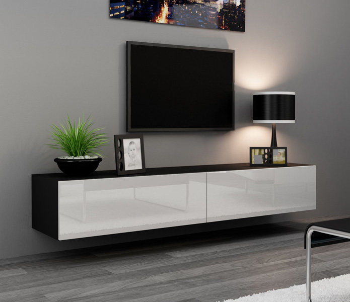 Details about Seattle 24 - Modern TV wall unit / tall tv stands for flat  screens / tv cabinet