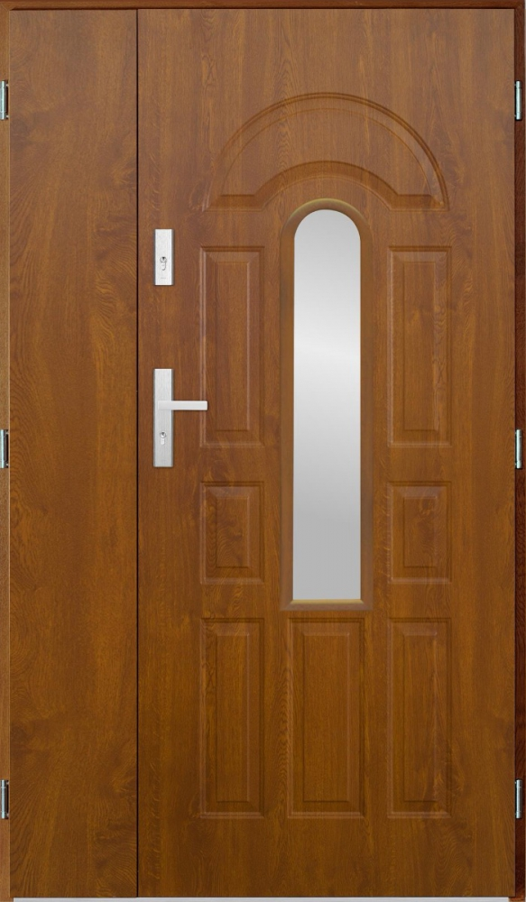 Virgo Uno Golden Oak Or Walnut Double Front Door Solid